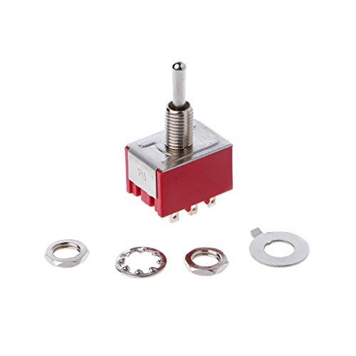 WDTong Rot 9 Pin ON-OFF-ON 3-Position Mini-Kippschalter AC 6A / 125V 3A / 250V -