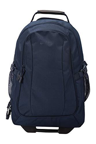 Mountain Warehouse Voyager 35-l-Rucksack mit Rädern - versteckte Riemen, Laptop-kompatibel, lässige und multifunktionale Reisetasche - Für Camping, tägliches Pendeln, Frühling Blau Voyager-notebook-rucksack
