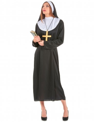Generique - Nonnen-Kostüm für Damen M (Funky Pimp Kostüm)