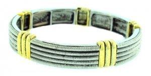 world-collana-da-donna-in-argento-braccialetto-elastico-due-tonalit