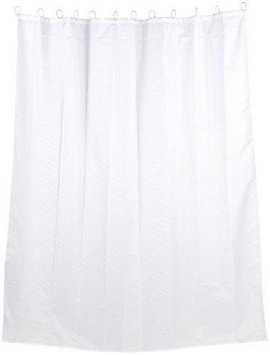 BadeStern Vorhang für Dusche: Anti-Schimmel-Duschvorhang weiß, 180 x 200 cm, 12 Befestigungsringe (Vorhang für Bad, Dusche, Badewanne, Badezimmer)