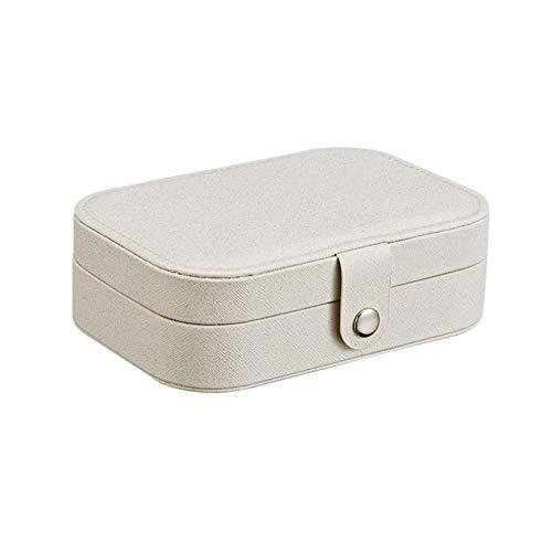 Schmuck Box Storage Case für Halskette Ohrringe Ringe Portable Schmuck Organizer Display für Frauen Mädchen Weiß 1PC