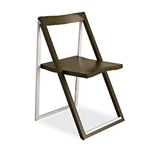 Calligaris Set Of 2 Folding Chairs Skip, Dove Gray Opaque