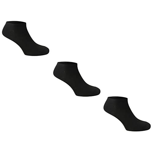 31nQRctFOCL. SS500  - 3pk Trainer Socks Comfortable New Casual Formal Ladies Women Men Gents Rich Cotton 4-6 6-11 11-13 Plain Ankle Socks (Mens 6-11 Black)