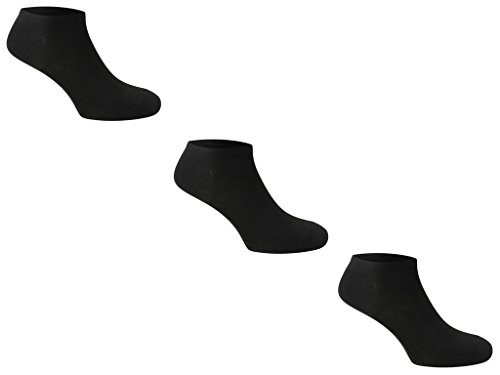 31nQRctFOCL - 3pk Trainer Socks Comfortable New Casual Formal Ladies Women Men Gents Rich Cotton 4-6 6-11 11-13 Plain Ankle Socks (Mens 6-11 Black)
