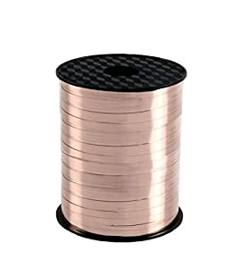amscan CR1100 - Rollo de Cinta para Globos (230 m x 5 mm), Color Oro Rosa