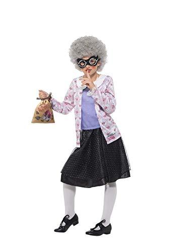 SMIFFY 'S 41514t David Walliams Deluxe Gangster Granny Kostüm, violett/schwarz, Tween Größe