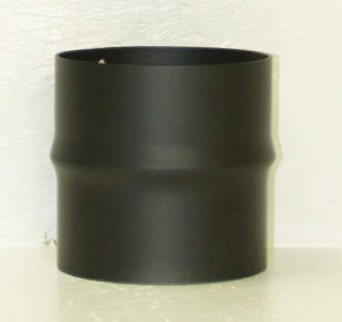 LANZZAS Rauchrohr Ofenrohr Kaminrohr Erweiterung Stahl Farbe schwarz Ø 150 mm auf Ø 160 mm -