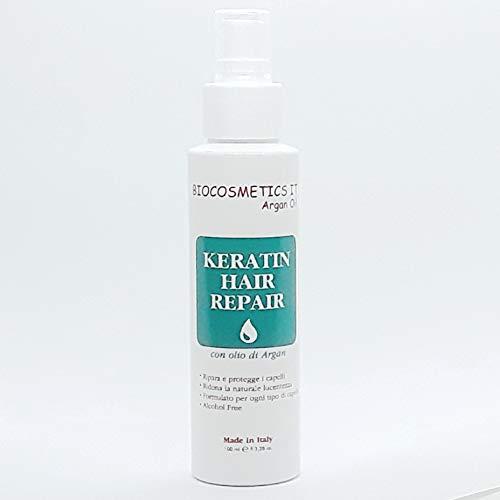 BIOCOSMETICS IT Keratin Hair Repair Lozione capelli con cheratina e olio di argan rivitalizzante per capelli daneggiati Spray 100 ml