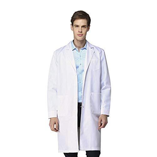 Eternali Labor Weiß Laborkittel Herren Damen Medizin Arztkittel Arbeitsmantel Labormantel Schutzkleidung Wissenschaftler Krankenhaus Chirurg Techr Küchenchef Arbeitskleidung Erwachsenes Kostüm