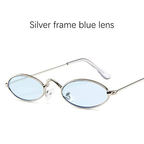 Loving Bird Liebevoller Vogel 2019 Ovale Sonnenbrille Frauen Retro Kleine Sonnenbrille Männer Rote Sonnenbrille für Weibliche Luxusmarke Designer Metallrahmen Brillen UV400, Farbe 10