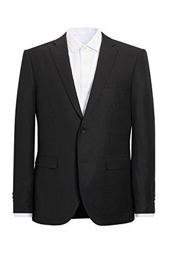 next Herren Signature Anzug Aus Italienischer Wolle Weste Mit Figurbetonter Passform Schwarz EU 96.5 Regular (UK 38R) -