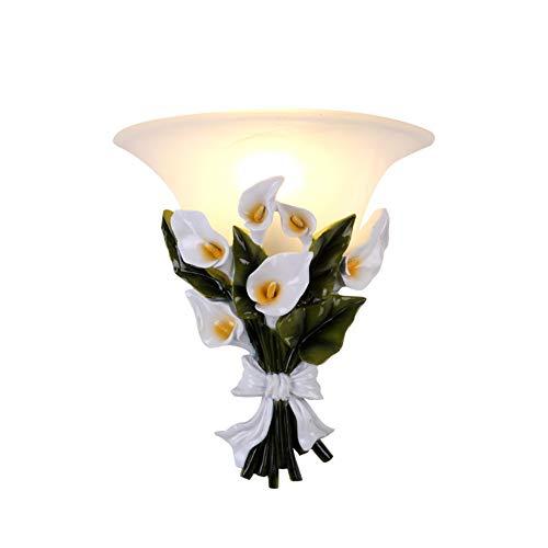Cancui led vetro decorazione lampada da parete, moderno creativo personalità disimpegno lampada da parete per comodino ufficio garage lampada da comodino e27 -bianca 30x28cm(12x11inch)