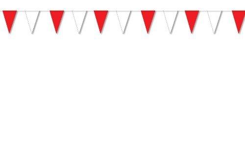 BUDILA® 20 Wimpelketten rot-weiss je 10m lang = 200m Gesamtlänge (Shop Weiß Rot Und)