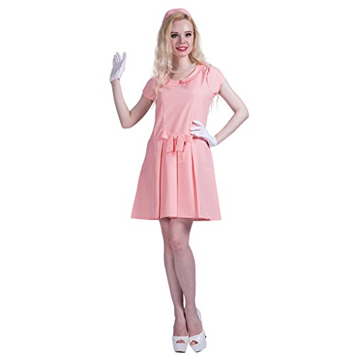 First Kostüm Lady - EraSpooky Damen First Lady Halloween Kostüm rosaes Kleid
