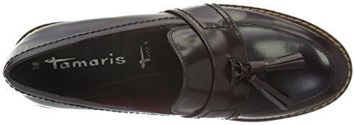 Tamaris Damen 24304 Slipper Rot (Bordeaux Brush 551)