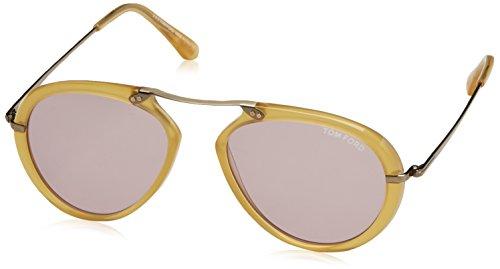 Tom ford ft0473_39y (53 mm) occhiali da sole unisex-adulto, amarillo 53