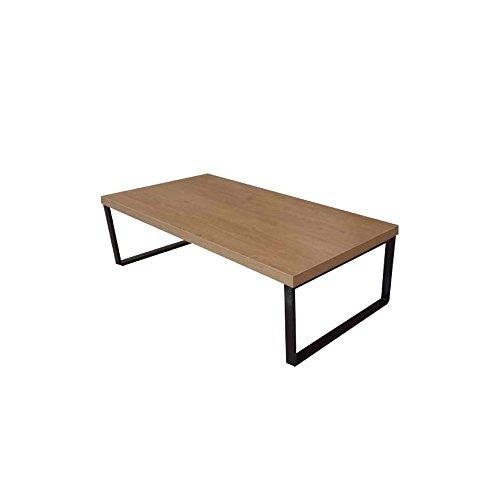 THE HOME DECO FACTORY HD3721 Table Basse en et Metal + metal Bois 119,50 x 60 x 31,30 cm