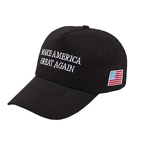 Parkomm Trump Hat, Donald Trump Cap, Hat with Wristband - Make America Great Again