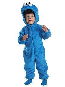 Monster Deluxe Two-Sided Plush Jumpsuit Child Small 4-6 (Sesame Street Kostüme Für Kinder)