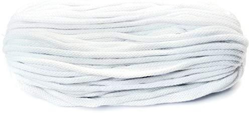 Baumwollkordel 6mm dick 50 Meter Lang Baumwollkordel weiß