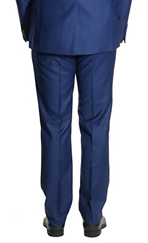 Business Hose Herren Flat-front Muga Blau