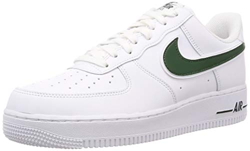 Nike Herren Air Force 1 '07 3 Basketballschuhe, Mehrfarbig (White/Cosmic Bonsai 000), 46 EU