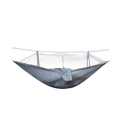 YYDCWANG Outdoor Tragbare Schlaf Hängenetz Hängematte Grau Reisegarten Hängematte Bett Camping Stuhl Klappmöbel Hängematte