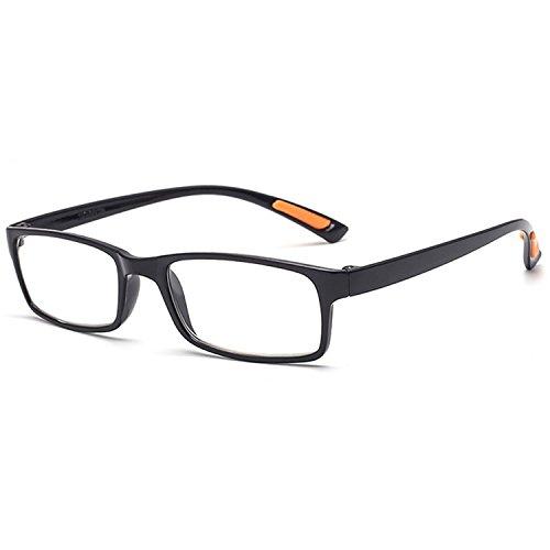 VEVESMUNDO Lesebrillen Damen Herren Sehr leicht Flexibel TR90 Rechteckig Retro Lesehilfe Sehhilfe Brille mit Stärke 10 15 20 25 30 35 40 (1 Stück Schwarz, 1.0)