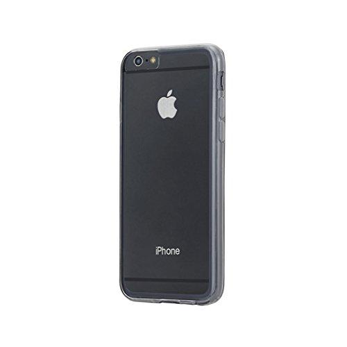 Aiino Jellies Schutzhülle Handyhülle Cover Case für Apple iPhone 6 Plus - Clear Schwarz