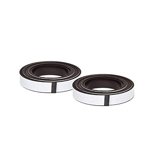 2 Selbstklebende Magnetbänder im Paar - 10x2000 mm passgenau für Fliegengitter und Rahmen