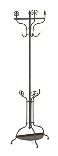 garderobe mit schirmstaender HAKU Möbel 14874 Wandgarderobe, rostbraun, 28 x 57 x 185 cm