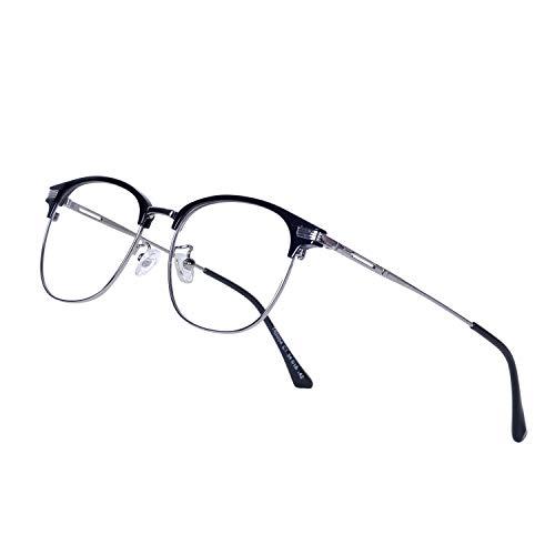 JoXiGo Computerbrille Blaulichtfilter Damen Herren Ohne Stärke mit Brillenetuis UV Schutzbrille gegen Kopfschmerzen Augenmüdigkeit Gamingbrille für PC TV Tablet