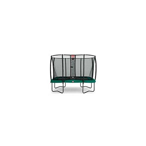 Berg Trampolin EazyFit mit Sicherheitsnetz Deluxe, Randbezug Grün