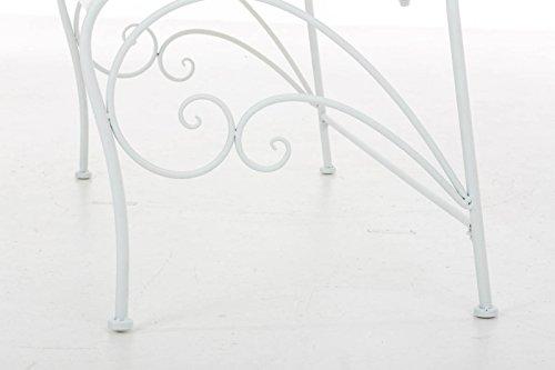 Gartenbank Felicita aus Eisen l Landhausstil l Metall weiß - 6