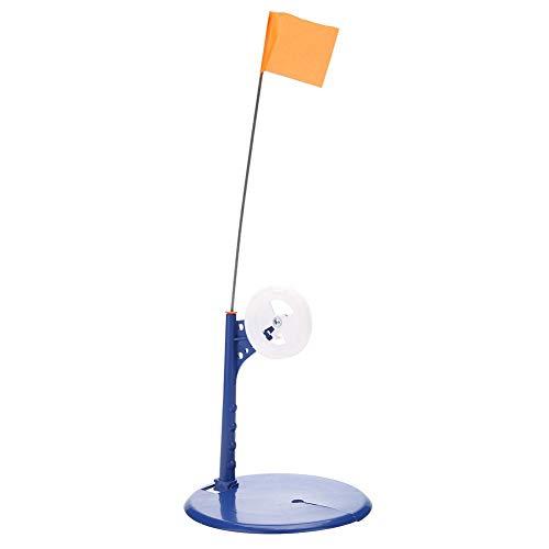 JUNERAIN Outdoor Winter Angelruten Eistipp Metall Stange mit orangefarbener Flagge Angler
