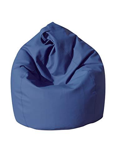 13casa dea poltrona a sacco, ecopelle, blu, 70 x 110 cm