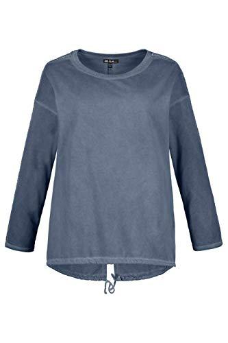 Ulla Popken Damen große Größen Sweatshirt meeresblau II 721276 69-II -