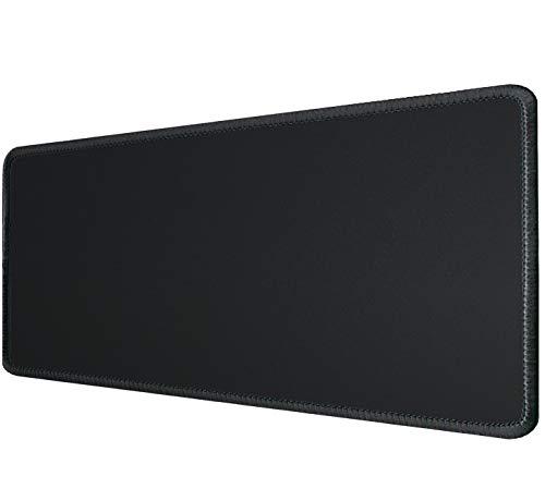 Silent Monsters Tapis de Souris XXL (900 x 400 mm) Mouse Pad Grand, Motif Noir, Approprié pour Souris de Bureau et Souris de Gaming