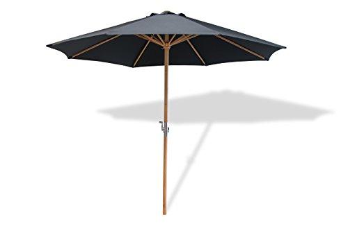 chirm Lucas, Gestell Holz, 300x250 cm, rund, Bespannung Polyester, Gartenschirm, Schwarz ()
