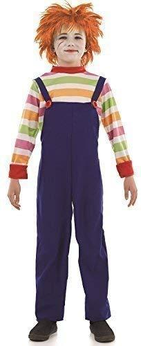 Fancy Me Jungen Kinder Tote Böse Puppe Attrappe Halloweem Film Kleid Kostüm Schuhe 4-12 Jahre - Multi, 4-6 - Böse Puppe Kostüm