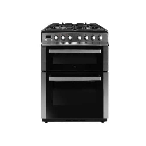 31nRIg%2BgHRL. SS500  - iQ 60cm Double Oven Dual Fuel Cooker - Stainless Steel