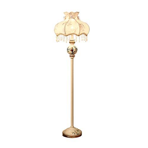 LYX® Stehlampe, europäischen ländlichen Harz Stehlampe Warm moderne vertikale Tischlampe Wohnzimmer Schlafzimmer Studie kreative Stehleuchte Garten (Farbe : A) -