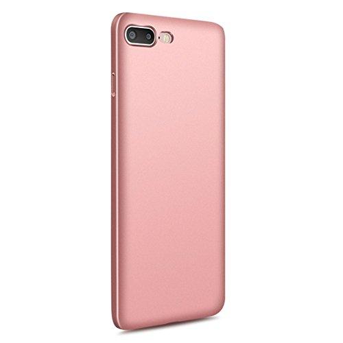 vanki® iPhone 7 Plus hülle Tasten Matt Hart PC Schutzhülle Case Cover Bumper Vollschutz Handyhülle für iPhone 7 Plus(5,5 Zoll) (Schwarz) Rose Gold