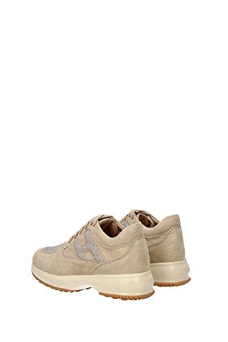 HXC00N0O240B740J23 Hogan Sneakers Bambino Camoscio Beige Beige