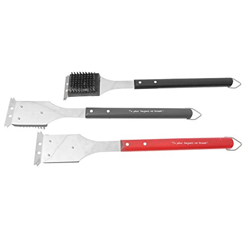 ruecab-2005-barbecue-grill-cleaning-brush-with-scraper-with-wooden-handle-black-red-grey-3-x-58-x-45