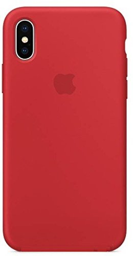NIKCASE iPhone x Silicone Back Cover for iPhone X (10) Red