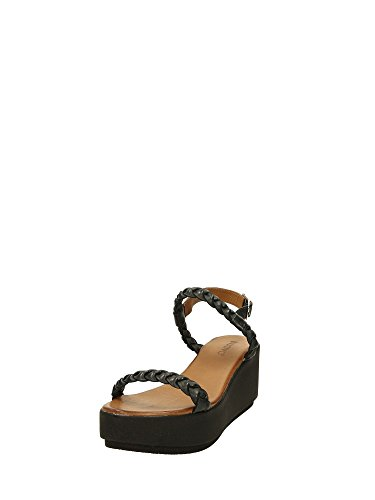 Inuovo 6080, Sandales  Bout ouvert femme Noir