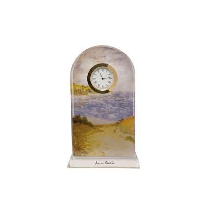 Goebel Standweg Weizenfelder, Claude Monet, Tischuhr, Tisch Uhr, Kaminuhr, Dekoration, Glas, 66523351