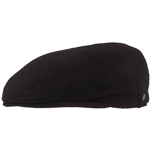 Hut Breiter Large - Uni d'oreille Protection Bonnet pour Homme avec Doublure Noir - Noir - S